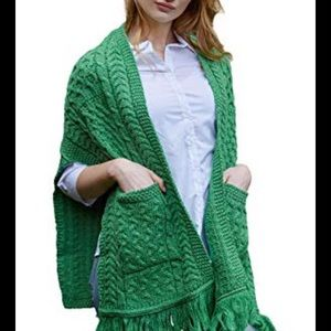 Connemara knitwear shawl/pancho/wrap